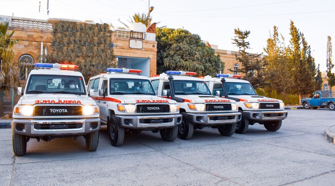 Tawakkol Karman Foundation Delivers Four Ambulances to Taiz City